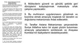Türkiye ile Rusya arasında imzalanan 10 maddelik Suriye mutabakatında neler var?