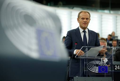 EU Council president Tusk praises EU unity, warns post-Brexit UK to become 'second-rate player'
