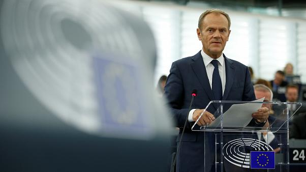 Brexit delay formally adopted says Tusk as he bids goodbye to 'British friends'