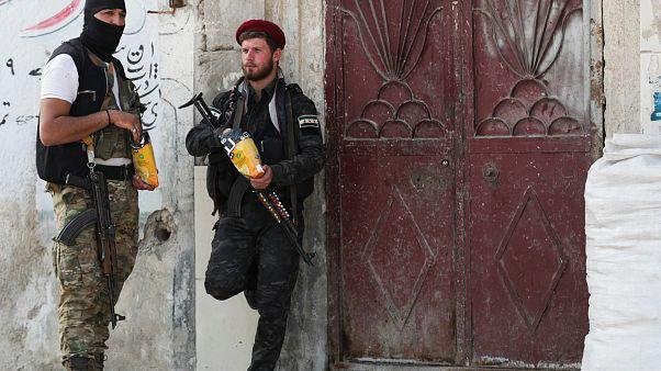 Türkiye destekli Suriye Milli Ordusu Telabyad'da devriye görevinde