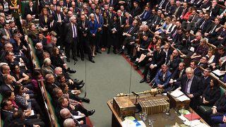 Boris Johnson says he awaits EU move on Brexit delay after parliament defeat