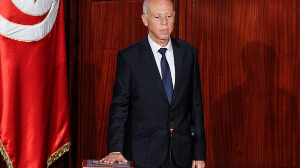 شاهد: قيس سعيّد يؤدي اليمين الدستورية رئيساً لتونس