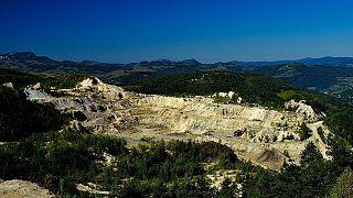 Cetate open-pit gold mine near Roșia Montană, Romania.