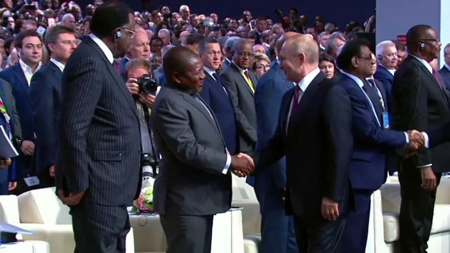 Cimeira Rússia-África reúne elite política africana em Sochi