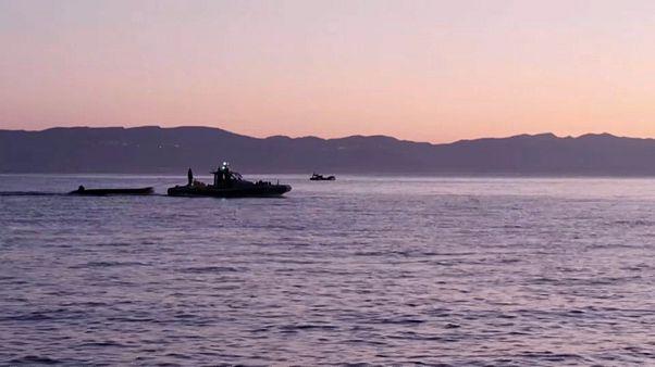 Naufrágio ao largo de ilha de Kos