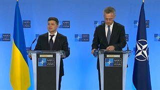 Ukraine's President Zelensky meets senior EU, NATO officials in Brussels