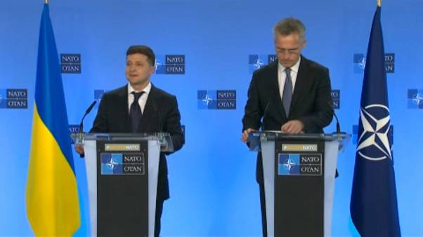 Ukraine's President Zelensky meets senior EU, NATO officials in Brussels