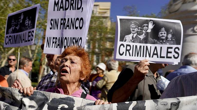 Spain Exhumes Late Dictator Franco's Remains