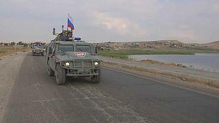 Rus askeri polisi Suriye sınırında ilk devriyesini attı