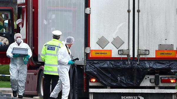 The truck with 39 bodies was found in the early hours of Wednesday