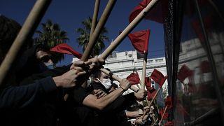 Επεισόδια στην πορεία των φοιτητών στο κέντρο της Αθήνας