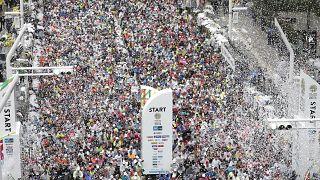 A tokiói, még nem olimpiai maraton rajtja 2019. március 3-án