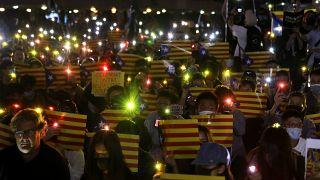 Χονγκ Κονγκ: Διαδηλωτές υπέρ της ανεξαρτησίας της Καταλονίας