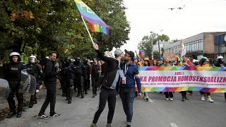 Participants attend Pride march in Lublin, Poland, September 28, 2019
