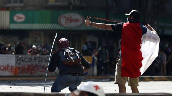 Séptimo día de protestas contra el Gobierno en Chile