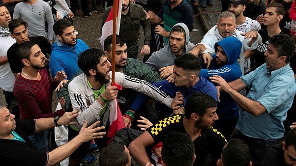 ناآرامیهای لبنان؛ هواداران حزب الله با معترضان درگیر شدند