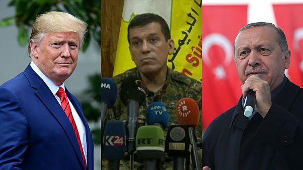 الرئيس التركي رجب طيب أردوغان ونظيره الأمركي دونالد ترامب