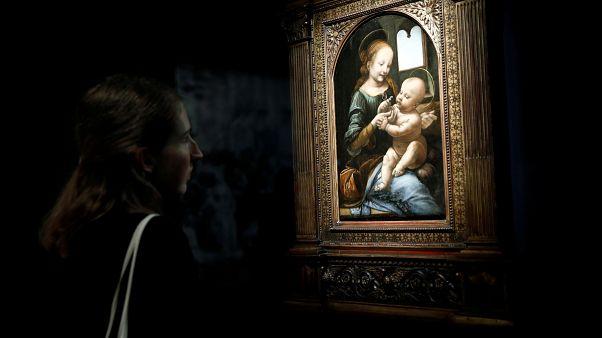 """Sergide yer alan Da Vinci tablolarından birisi de """"Benois Madonna"""""""
