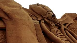 Watch: See the world's longest sand sculpture on Denmark's west coast