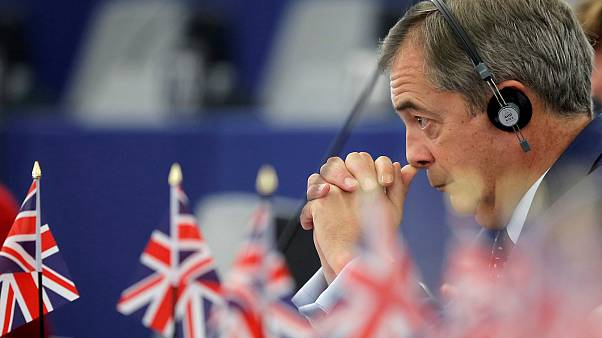 Brexit campaigner and Member of the European Parliament Nigel Farage attends a debate on the last EU summit and Brexit at the European Parliament in Strasbourg, France