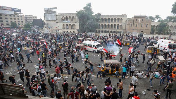 Irak'ın başkenti Bağdat'ta hükümet karşıtı gösteriler