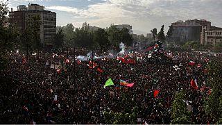 تظاهرات یک میلیونی در پایتخت شیلی؛ رئیسجمهور: پیامتان را شنیدم