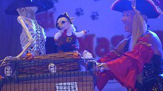 Korsan köpekler, müzisyen kediler... ABD'de evcil hayvan balosu