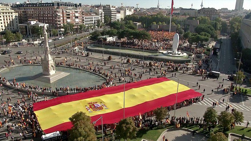 تجمع طرفداران حزب راست افراطی اسپانیا در شهر مادرید