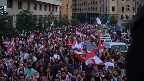 Clashes break out in anti-government protests near Tripoli, Lebanon