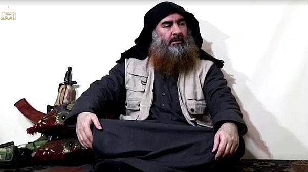 Abu Bakr al-Baghdadi in a video released in 2019.