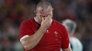 Wales' Ken Owens leaves the pitch