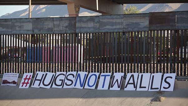 Families reunited in 'Hugs Not Walls' event at U.S.-Mexico border