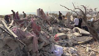 شاهد: غارة أمريكية تحول منزل زعيم داعش أبو بكر البغدادي إلى ركام