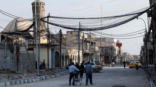 """مدينة الموصل حيث ظهر زعيم تنظيم """"الدولة الإسلامية"""" ابو بكر البغدادي أول مرة سنة 2014."""