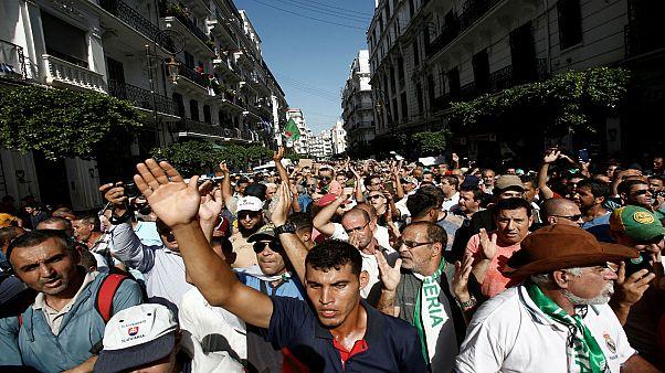 مظاهرات في العاصمة الجزائر رفضا للانتخابات الرئاسية المقررة آخر هذا العام. 2019/10/11