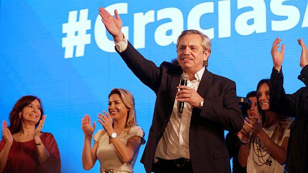 Ekonomik kriz ile boğuşan Arjantin'de başkanlık seçiminin galibi Alberto Fernandez