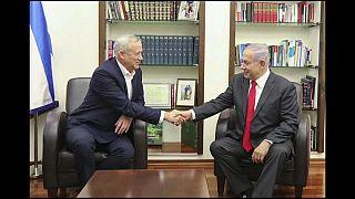 Нетаньяху и Ганц: первая встреча