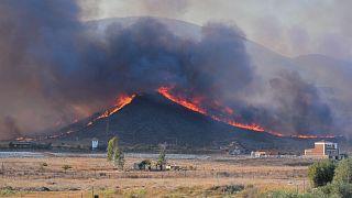 Kaliforniya'da orman yangını söndürülemiyor