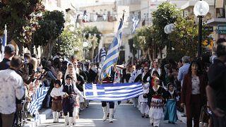 Μαθητική παρέλαση στο πλαίσιο των εορταστικών εκδηλώσεων για την Εθνική Επέτειο της 28ης Οκτωβρίου