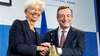 Mario Draghi y Christine Lagarde