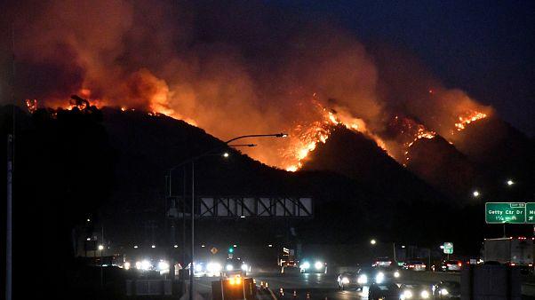 Пожары в Калифорнии: эвакуированы Арнольд Шварценеггер и Леброн Джеймс
