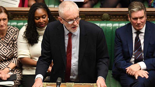 Jeremy Corbyn à la Chambre des communes, le 21 octobre 2019