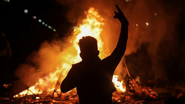 Gyújtogatás és erőszak Chilében