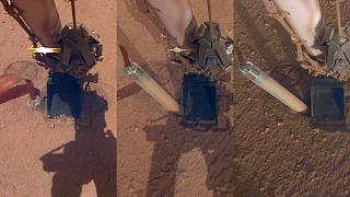 Mars toprağından dışarı çıkan sonda cihazı