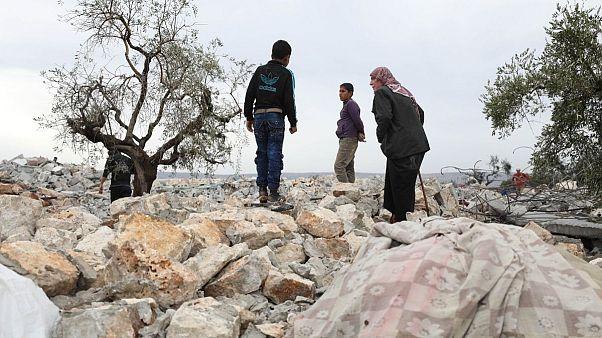 محلی که نیروهای آمریکایی در نزدیکی روستای باریشای سوریه عملیات خود را علیه رهبر داعش انجام دادند