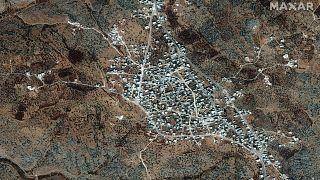 منظر عبر الأقمار الصناعية لمكان إقامة أبو بكر البغدادي السابق- أرشيف رويترز