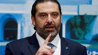 Hariri bei Pressekonferenz am 21. Oktober
