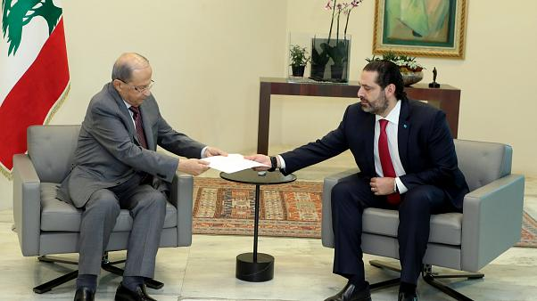 سعد حریری متن استعفای خود را به میشل عون تقدیم کرد