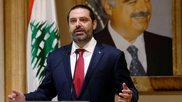 El primer ministro libanés Saad al-Hariri habla durante una conferencia de prensa en Beirut, Líbano, el 29 de octubre de 2019.