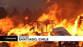 Chili : nouveaux affrontements à Santiago